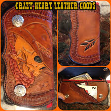 hand crafted tooled leather wallets