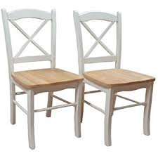 target marketing systems set of 2 tiffany dining chairs with cross back set of 2 white natural