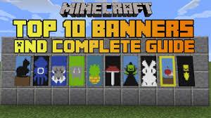 Minecraft Banner Patterns Best Minecraft Top 48 Banner Designs With Tutorial YouTube