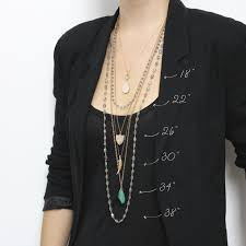 guide to necklace lengths layering