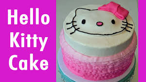 How To Make A Hello Kitty Birthday Cake With Jill Youtube