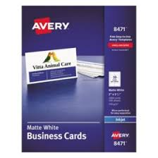 Avery 5871 Or 5876 Clean Edge Business Cards White 200 Cards