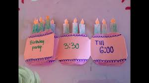 Make Birthday Party Invitations How To Make A Folding Birthday Party Invitation Card Youtube