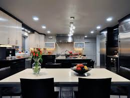 Black And White Modern Kitchen Kitchen Cool Industrial Kitchen With Matte Black Appliance And