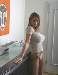 Big tits in small shirt