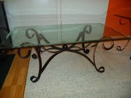 glass iron coffee table wrought iron coffee beveled glass end tables in joliet small space designs