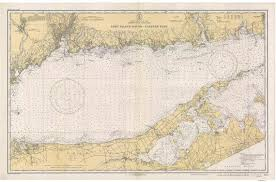 Long Island Sound Eastern Part 1934 Nautical Map Perfect