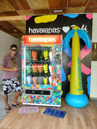 Havaianas Vending Machine Locations Delectable Havaianas Vending Machine Photo