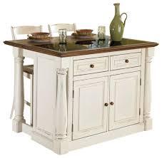 inverness 3 piece granite kitchen island and stool set antique white