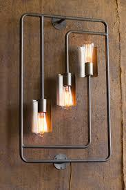 industrial modern lighting. Industrial Modern 3 Light Raw Metal Pipe Plug In Wall Sconce Lighting S