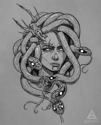 Medusa Gorgona Sketch By At Bth3run Sketches By At Bth3run идеи для