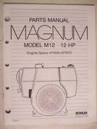 kohler engines parts manual magnum model m12 12 hp kohler kohler engines parts manual magnum model m12 12 hp