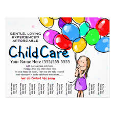 Childcare Flyers Child Care Flyers Zazzle
