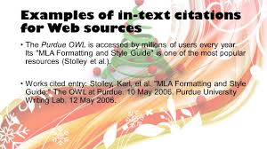 Mla Format Research Works Cited Pages In Text Citations Ppt