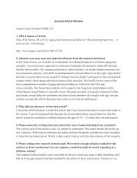 Apa Journal Article Review Article Reviewwriting Sample10 Apa Format
