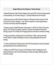 Teacher Resume Objectives 26 Best Teacher Resumes Free Premium Templates