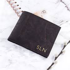 personalised vegan leather wallet