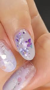 紫シェルが今っぽい紫陽花ネイル C Channel