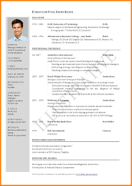 5 Resume One Page Template Professional Resume List