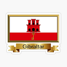 """Gibraltar Flag Gifts, Stickers & Products - Named"""" Sticker by mpodger 