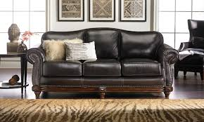 picture of hermitage top grain leather down sofa