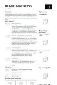 Technical Editor Resume Samples - Visualcv Resume Samples Database