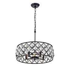oil rubbed bronze crystal chandelier hampton bay 4 light small