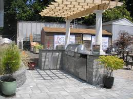 Outdoor Kitchen Metal Frame Pool And Outdoor Entertainment