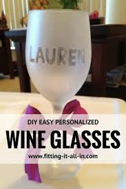 diy easy personalized wine glasses