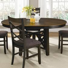 Pedestal Dining Table Colby Round To Oval Single Pedestal Dining Table With 18 Inch