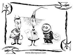 Small Picture Nightmare Before Christmas Coloring Pages GetColoringPagescom