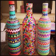 Ideas To Decorate Wine Bottles Top 100 Fun Craft Ideas Decorated wine bottles Bottle and Decorating 34