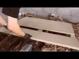 board a loft above the insulation