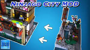 LEGO Ninjago City Modular Conversion MOD |Ninjago City 70620 MOC and  Building Tips!