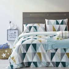 triangle pattern satin cotton duvet cover bedding