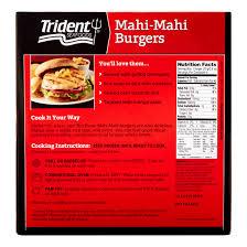 trident seafoods mahi burgers 4 ea trader joes