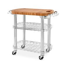member s mark bamboo prep table kitchen island grill station 0