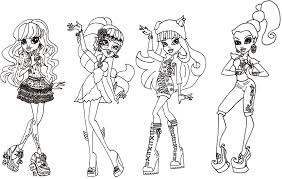 Monster High Coloring Pages Pdf Monster High Coloring Pages Pdf Many