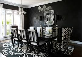 Small Picture Contemporary Black And White Dining Room Furniture With Extra