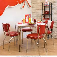 Retro Kitchen Table Chairs Rustic Red Kitchen Table As Wells As Round Kitchen Table And