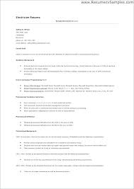 Sample Resume For Electrician Best Example Of Electrician Resume Journeyman Electrician Electrician