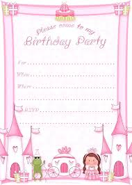 Invitation Free Templates 021 Template For Birthday Invitation Free Printable Princess