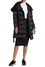 Tahari Outerwear Size Chart Tahari Hooded Belted Waist Puffer Jacket Nordstrom Rack