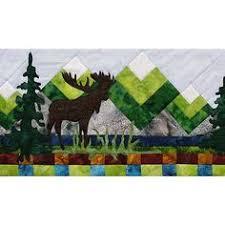 Moose and northern lights in Alaska | Northern Lights Moose Quilt ... & Row by Row 2015 Moose Lake Kit Adamdwight.com