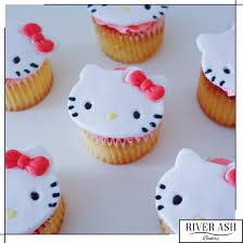 Hello Kitty Cupcakes Hello Kitty Desserts Singapore River Ash Bakery