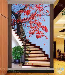 3D Maple Tree Stair Corridor Entrance ...