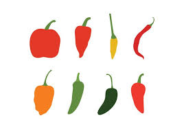 chili pepper vector. Contemporary Chili Different Chili Peppers Vector Pack In Pepper P