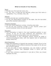 Name Your Resume Examples 2 What To Include In Curriculum Vitae For