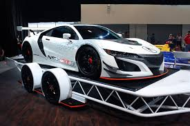 2018 honda nsx gt3. brilliant nsx acura mdx towing nsx at sema 201601  to 2018 honda nsx gt3