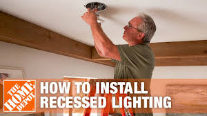Install Can Lights In Existing Ceiling How To Install Recessed Lighting The Home Depot
